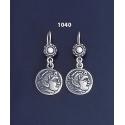 1040 Alexander the Great ( Hercules) Silver Earrings