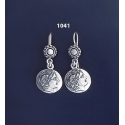 1041 Alexander the Great ( Lysimachos) Silver Earrings