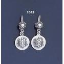 1042 Aegina Land Tortoise Silver Coin Earrings