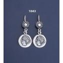1043 Sterling Goddess Aphrodite (Venus) earrings