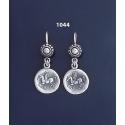 1044 Sterling Silver Corinthian Coin earrings depicting pegasus