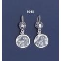 1045 Wise Owl silver tetradrachm coin earrings