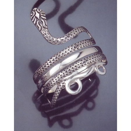 Greek Jewelry Shop Bracelets Coiled Snake Goddess