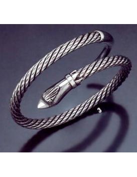3 Hand Twisted Head & Tail Snake Bracelet