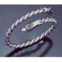 165 Hand-Coiled Double Headed Snake Bracelet