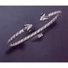 233 Hand-Coiled Ram Torc Bracelet (S)