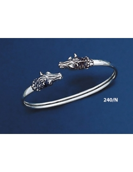 240/N Double-Headed Horse Sculpture/Carving Figurine Bracelet