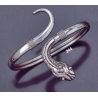 244 Single headed ornate sterling silver snake bracelet