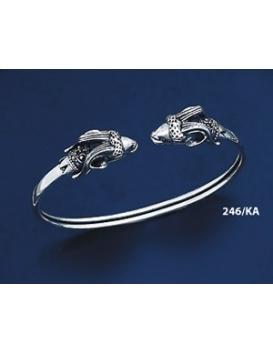 246/KA Sterling Silver Capricorn Torc Bracelet