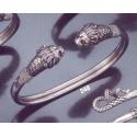 248 Sterling silver Lion torc bracelet