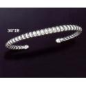 347/SB Immaculate Spiral Silver Cuff Bracelet