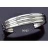 347/ST Triple Solid Silver Band Bracelet (Heavy)