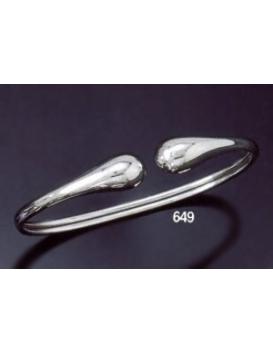 649 Contemporary Snake-like silver bracelet