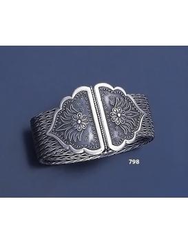 798 Hand Braided Silver Bracelet