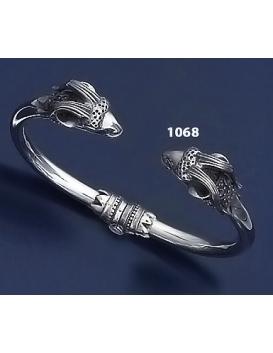 1068 Silver Capricorn Torc Bracelet