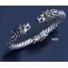 1072 Hand-coiled Lion's head torc bracelet (L)