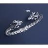 1076 Hand-Coiled Capricorn's head torc bracelet (M)