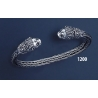 1200 Hand Braided Silver Lion Torc Bracelet