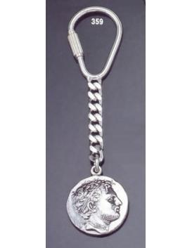 359 Silver Keyring with Perseus of Macedon tetradrachm coin