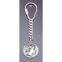 361 Silver Keyring with Alexander the Great coin (portait) King Lysimachos