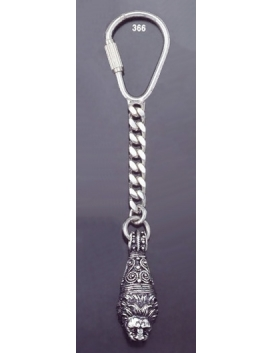 366 Silver Keyring with Lion's head