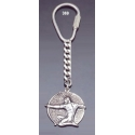369 Silver Keyring with Archer coin