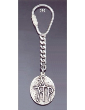 370 Silver Keyring with Byzantine Monogram