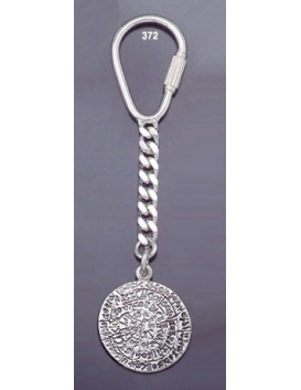372 Silver Keyring with Phaistos disc