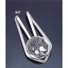 447 Silver Money-clip with Goddess Athena Coin
