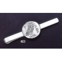 453 Sterling Silver Owl Of Wisdom Tie-bar