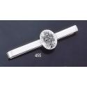 455 Sterling Silver Tie-Bar with Byzantine Monogram
