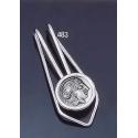 483 Silver Money-clip with Goddess Athena Coin (S)