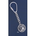 703 Silver Keyring With Goddess Athena Coin