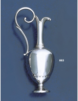 883 Collectible Solid Silver Miniature Lekythos Vase