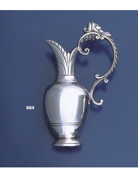 884 Collectible Solid Sterling Silver Miniature Lekythos Vase