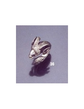 36 Sterling ancient Ram torc reproduction ring
