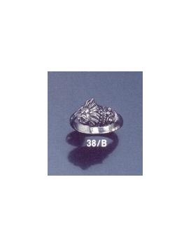 38/B Lion's head torc ring