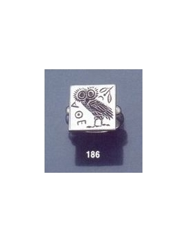 186 Owl of Wisdom intaglio (seal) ring