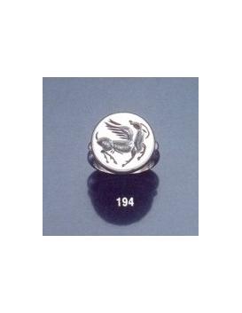 194 Pegasus Roman intaglio signet (seal) ring