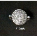 410/DA Phaistos disc sterling silver band ring