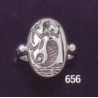 656 Ancient Greek Mermaid intaglio (seal) ring