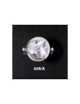 658/A Helmetted Athena sterling silver band ring
