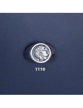 1110 Goddess Athena chevalier coin ring (M)