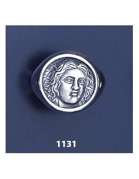1131 Rhodes island- Helios ancient sun god chevalier coin ring (XL)