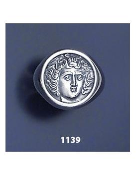 1139 Larissa Nymph chevalier coin ring (XL)