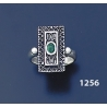 1256 Hellenistic Silver Band Ring with Emerald