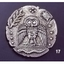 17 Wise owl dekadrachm brooch