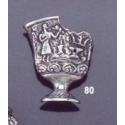 80 Fractured ornate vase brooch