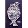 105 Fractured Vase brooch