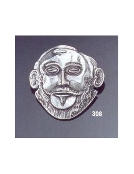 308 Agamemnon mask brooch